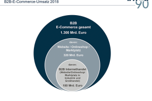 B2B-E-Commerce-Umsatz 2018 Bild: Quelle: IFH Köln, B2B-E-Commerce 2019