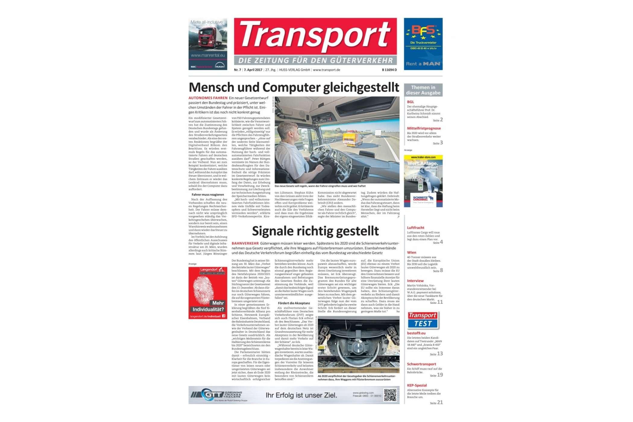 transportausgabe nr 07  fachmagazin  transport  die