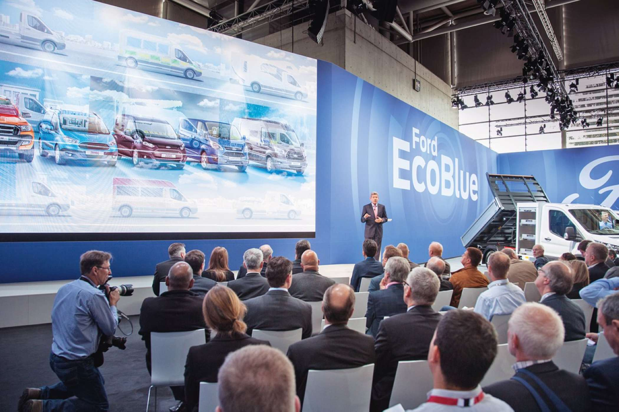 EcoBlue: Reges Interesse am Thema Euro 6 bei Ford. |Foto: IAA aktuell