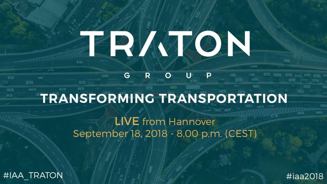 Transformation des Transports: Die TRATON GROUP auf der IAA. Foto: TRATON