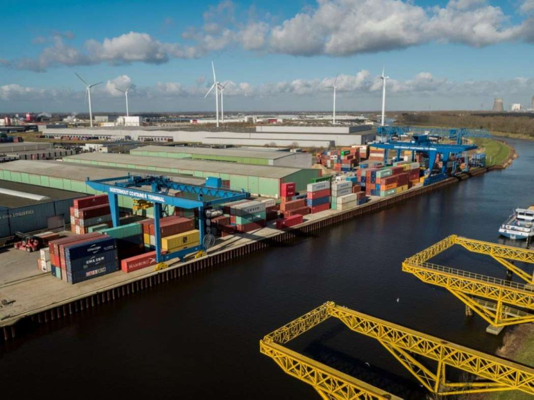 Das Oosterhout Container Terminal (OCT). Foto: Port of Rotterdam